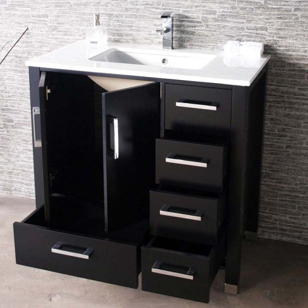 Transitional Floor Mount Bathroom Vanity Cvasl 36 Es