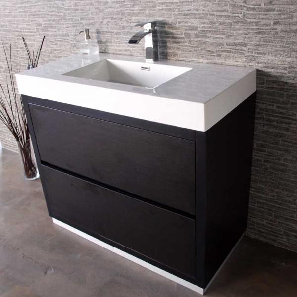 Modern Floor Mount Bathroom Vanity CVFMB 40 BLK